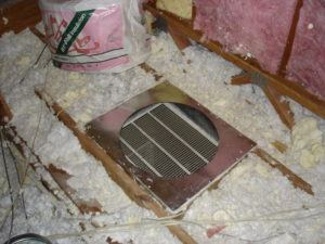 Hazards of old insulation ellis air conditioning and heating for Rockwool loose fill